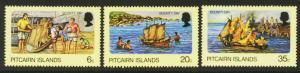 Pitcairn Islands Sc# 174-6 MNH Bounty Day 1978