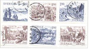 Sweden Sc  1508-3 1984 Medieval Towns stamp set used