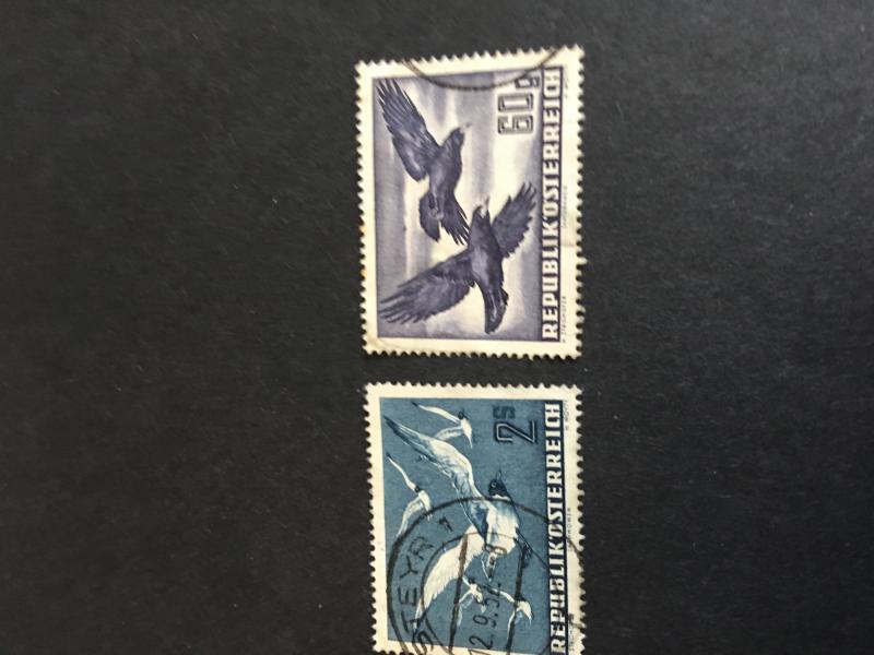 Austria 1950 60g and 2S Air Mails Used #C54 & C56 VF Cat. $11.10