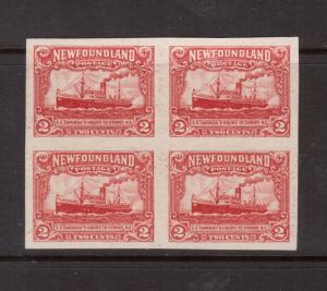Newfoundland #164b XF Mint Imperf Block **With Certificate**