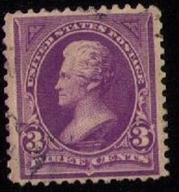 US Sc #253 Used 3c Purple Centering Very Fine