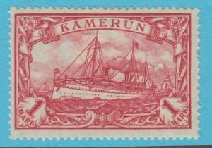 GERMAN COLONIES CAMEROUN 24 LARGE YACHT MINT HINGED OG * NO FAULTS VERY FINE !