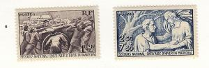 France, B112-13, National Relief, Semi-Postal Singles, LH