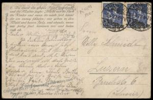 Germany 1922 Cover to Switzerland Mi168 MeF Postcard 72058