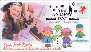 17-301, 2017, The Snowy Day, FDC, Pictorial PM, Christmas, Ezra Jack Keats
