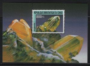CONGO, UNLISTED, SOUVENIR SHEET OF 1, 2002, MNH, MINERALS
