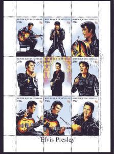 1999 Senegal Elvis Presley Italia 98 Shlt CTO Yvert 1304-12