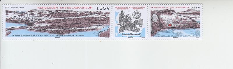 2019 FSAT Fr Antarctic Kerguelen Tiller site S2/label (Scott NA) MNH