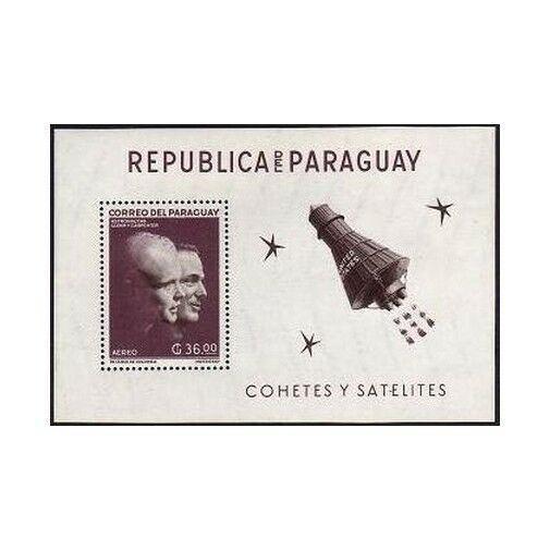 Paraguay 706a perf,imperf,MNH.Michel Bl.26-27. Space:John Glenn,Scott Carpenter.