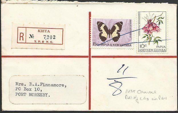 PAPUA NEW GUINEA 1967 Reg ex KIETA. manuscript cancel, Relief No.1.........48425