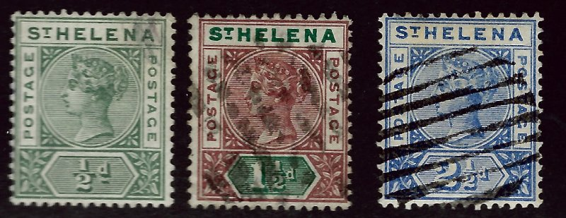 St. Helena SC#40 Mint, #41 & 44 Used  F-VF...Enjoy!