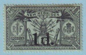 BRITISH NEW HEBRIDES 27  MINT HINGED OG * NO FAULTS VERY FINE !