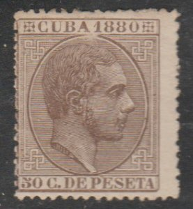1880 Cuba Stamps Sc 92 King Alfonso Spain  NEW