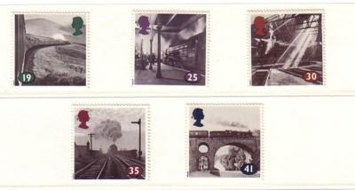 Great Britain Sc 1533-7 1994 steam RR engines stamps NH