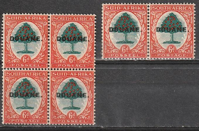 South Africa DOUANE overprints Mint OGNH