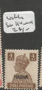 India Nabha SG 114 MNH (1cwr)