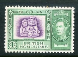 BRITISH HONDURAS;  1938 early GVI issue fine Mint hinged 1c. SP-245629