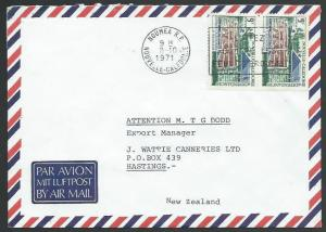 NEW CALEDONIA 1971 airmail cover Noumea to New Zealand.....................58673