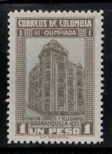 Colombia 1935 SC 433 LH CV$ 120
