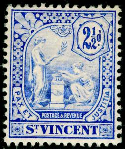 ST. VINCENT SG97, 2½d blue, LH MINT. Cat £42.