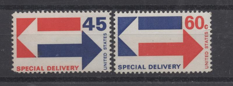 United States US 1969 - 71 Special Delivery Stamps 45c - 60c Scott E22-E23 MNH