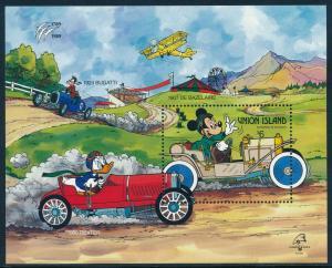 Disney Union Islands - MNH Souvenir Sheet Dexter Car (1989)