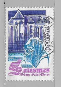 France 1706 1980 2.50fr St. Peter's Abbey single Used