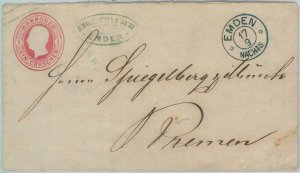 82002 - GERMANY Hannover - Postal History - STATIONERY COVER from EMDEN