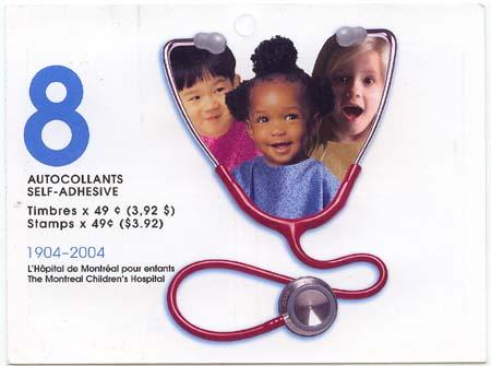Canada USC #BK290 Mint 45c Children's Hospital Complete Booklet