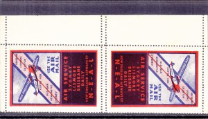 Australia: Pair of Sydney to Brisbane Daily Air Service Labels (S18180)
