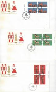 Canada 839-41 FDC Christmas CPO Official Cachet on 3 Covers