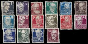 Germany-Soviet Zone 1948 Sc 10N29-44 MH complete