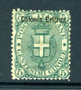 ERITREA Colony 5c Shield  (Mint HINGED) cv$150.00