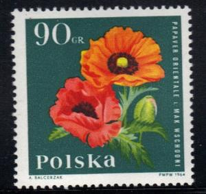 Poland    #1284   MNH  1964    garden plants  flowers  90g