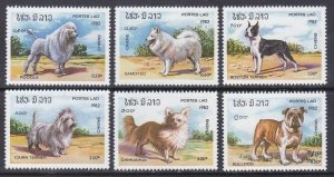 Laos 405-10 MNH 1982 Various Dogs Complete Set Very Fine
