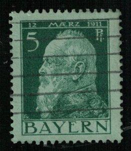 Prince Luitpold, 5 Pf, BAYERN, Deutsche, 1911, Germany, MC #77 (T-6961)