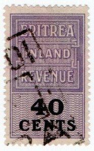 (I.B) BOIC (Eritrea) Revenue : Duty Stamp 40c