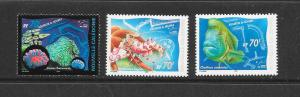 CORALS - NEW CALEDONIA #849-51  MNH