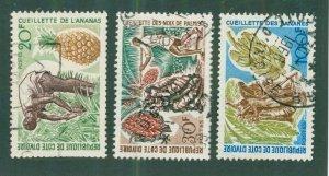 Ivory Coast 253-55 USED BIN$ 1.95