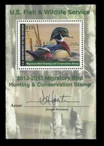 RW79B 2011 Federal Duck Joe Hautman Artist Signed Mini Sheet -Ebay Lowest-Offer?