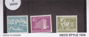 Germany-Berlin: Sc #9N108-110, MH (S18426)