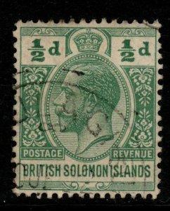 BRITISH SOLOMON IS. SG22 1914 ½d GREEN FINE USED