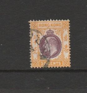 Hong Kong 1907 30c Used SG 97