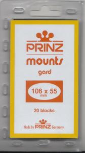 PRINZ BLACK MOUNTS 106X55 (20) RETAIL PRICE $6.50