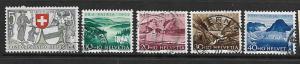 SWITZERLAND, B212-B216, U, 1952 SET