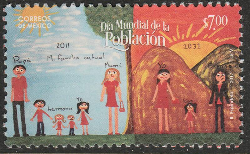 MEXICO 3058, Population Day. MNH