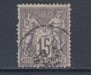 France Sc 69 used 1876 15c gray lilac Peace & Commerce