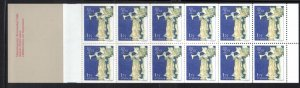 Sweden Sc 1339a 1980 Christmas Angel stamp booklet pane mint NH
