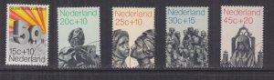 NETHERLANDS, 1971 Social Welfare Funds set of 5, used.