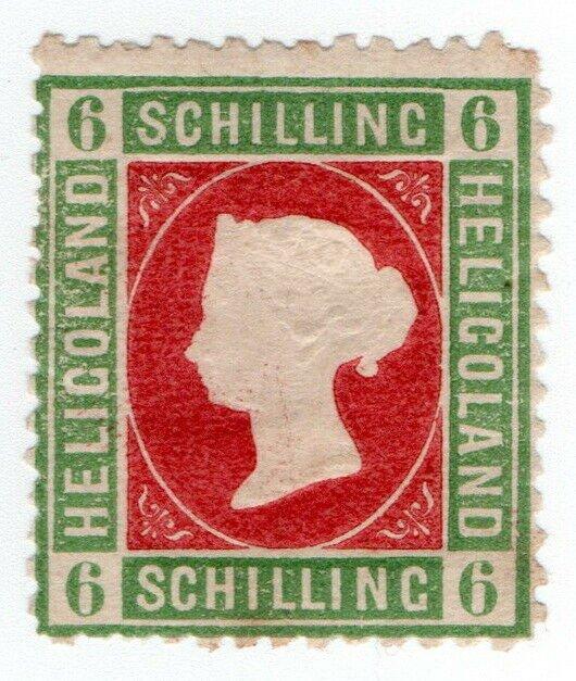 (I.B) Heligoland Postal : Definitive Head 6sch